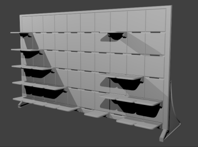 A rendering of what the final rack may look like, courtesy of Fábio Fontes.
